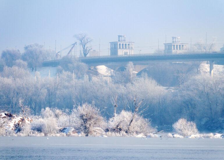 Зима на острові Дубовому