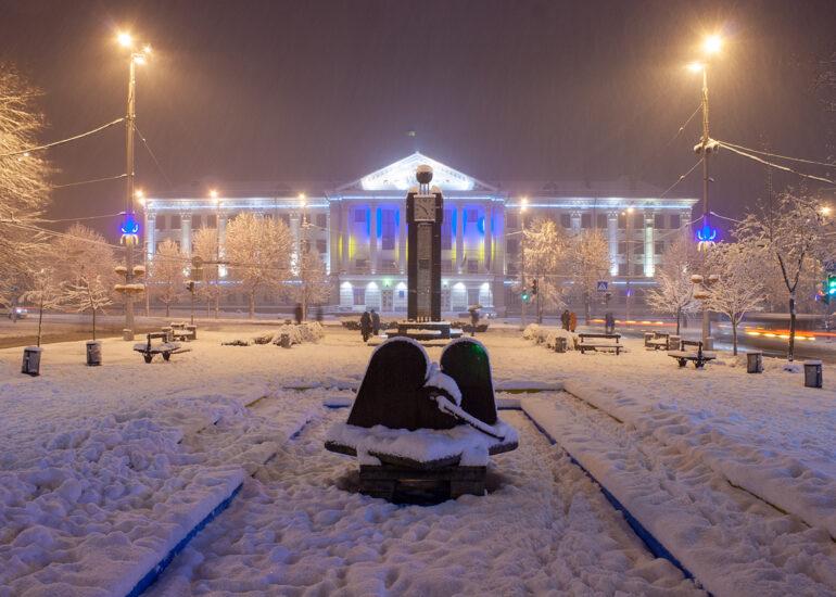 Зимовий бульвар Шевченка