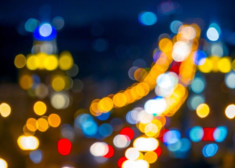 Гірлянда нічного проспекту